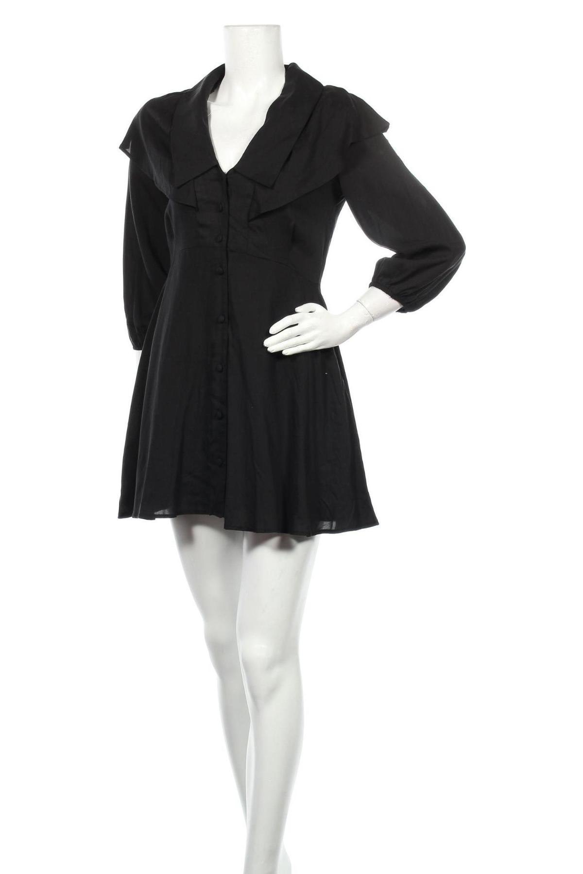 Рокля Zara, Размер M, Цвят Черен, 100% лиосел, Цена 44,25лв.