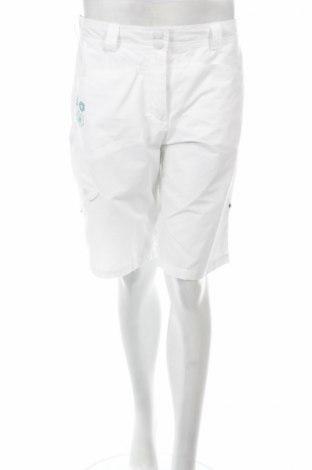 Дамски къс панталон Oxylane, Размер M, Цвят Бял, 70% памук, 30% полиамид, Цена 3,04лв.