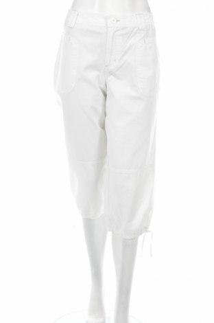 Дамски панталон Allison Brittney, Размер M, Цвят Бял, Памук, Цена 7,77лв.