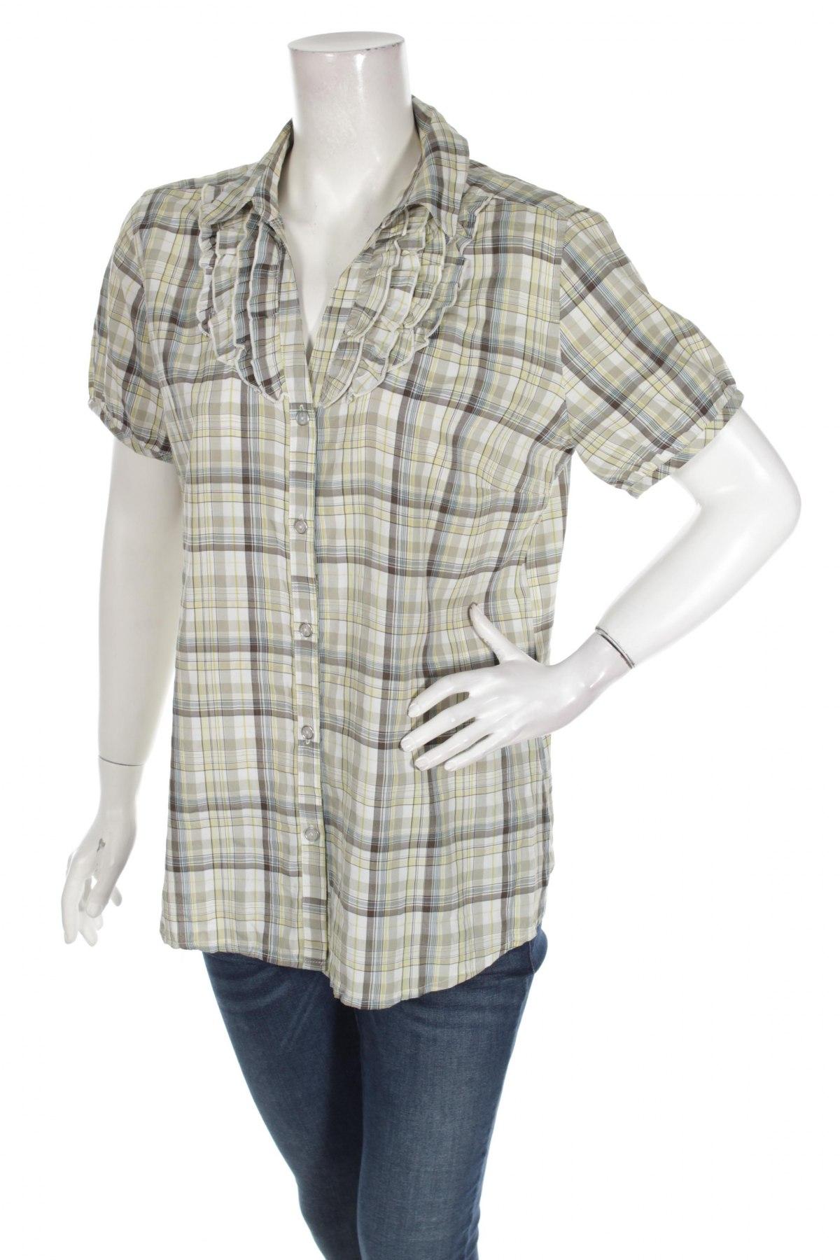 Γυναικείο πουκάμισο Laura Lardini, Μέγεθος L, Χρώμα Πολύχρωμο, 64% πολυεστέρας, 36% βισκόζη, Τιμή 10,52€