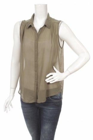 Дамска риза H&M, Размер M, Цвят Зелен, Цена 4,00лв.