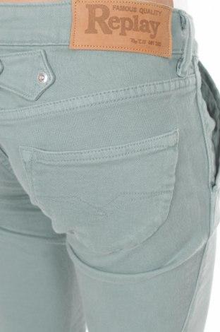 Дамски дънки Replay, Размер XS, Цвят Зелен, Памук, еластан, Цена 13,91лв.