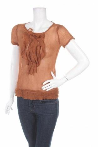 Дамска блуза Zebra, Размер M, Цвят Кафяв, 100% полиестер, Цена 4,77лв.