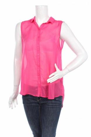 Дамска риза H&M, Размер M, Цвят Розов, 100% полиестер, Цена 3,75лв.