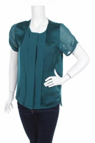 Дамска риза H&M, Размер XS, Цвят Зелен, 100% полиестер, Цена 5,75лв.