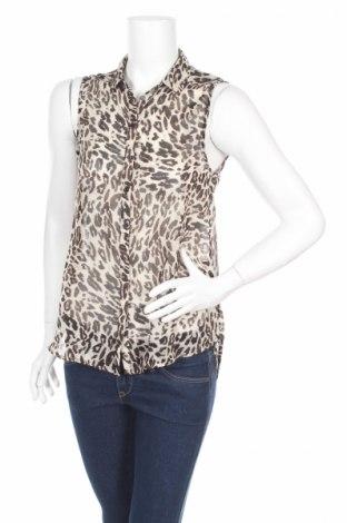 Γυναικείο πουκάμισο H&M, Μέγεθος S, Χρώμα  Μπέζ, 100% πολυεστέρας, Τιμή 3,29€