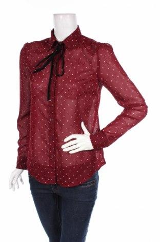 Γυναικείο πουκάμισο Stradivarius, Μέγεθος S, Χρώμα Κόκκινο, Πολυεστέρας, Τιμή 10,58€