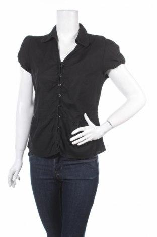 Дамска риза Yessica, Размер M, Цвят Черен, 60% лен, 40% памук, Цена 36,40лв.