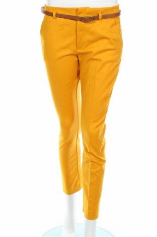 Γυναικείο παντελόνι Zara, Μέγεθος S, Χρώμα Κίτρινο, 97% βαμβάκι, 3% ελαστάνη, Τιμή 17,94€
