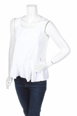 Γυναικείο αμάνικο μπλουζάκι Divina, Μέγεθος S, Χρώμα Λευκό, 70% βαμβάκι, 30% πολυεστέρας, Τιμή 5,24€