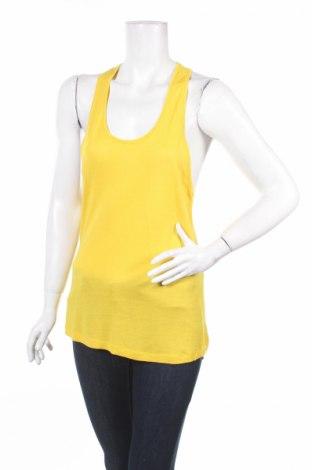 Γυναικείο αμάνικο μπλουζάκι Pink Woman, Μέγεθος S, Χρώμα Κίτρινο, Τιμή 4,64€