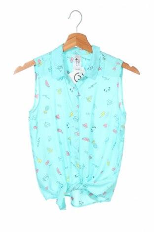 Детска риза Here+There, Размер 12-13y/ 158-164 см, Цвят Син, 100% вискоза, Цена 7,70лв.