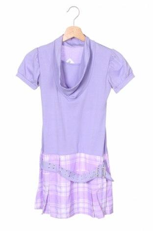 Детска рокля, Размер 14-15y/ 168-170 см, Цвят Лилав, 95% вискоза, 5% еластан, Цена 3,90лв.