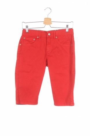 Pantaloni scurți de copii Levi's, Mărime 15-18y/ 170-176 cm, Culoare Roșu, 98% bumbac, 2% elastan, Preț 56,17 Lei