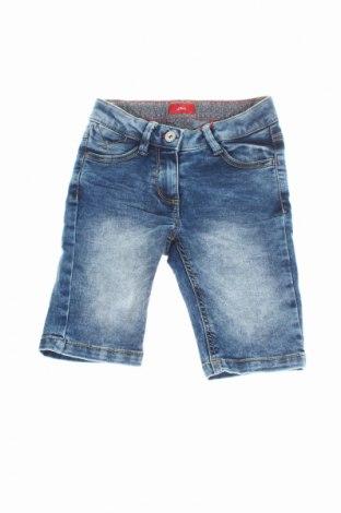 Pantaloni scurți de copii S.Oliver, Mărime 8-9y/ 134-140 cm, Culoare Albastru, 75% bumbac, 23% poliester, 2% elastan, Preț 25,06 Lei