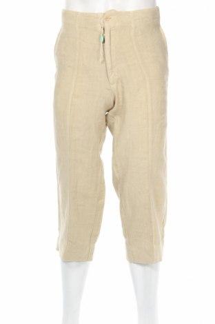 Мъжки панталон Z Zegna, Размер S, Цвят Бежов, 100% лен, Цена 65,75лв.