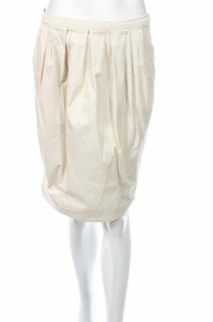 Пола Max Mara, Размер S, Цвят Бял, 98% памук, 2% еластан, Цена 38,69лв.