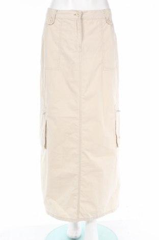 Пола Tom Tailor, Размер M, Цвят Бежов, 65% памук, 35% полиамид, Цена 18,20лв.