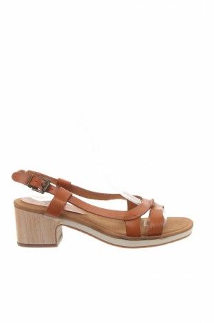 Sandále Vialis, Veľkosť 37, Farba Hnedá, Pravá koža , Cena  26,81€