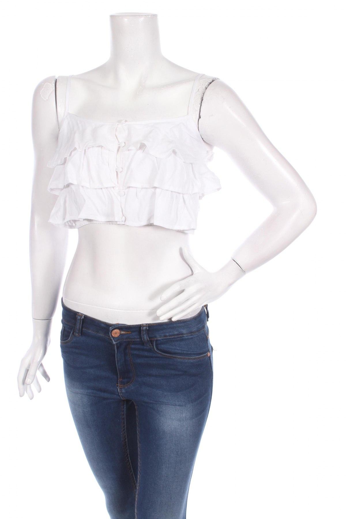 Γυναικείο πουκάμισο Twentyfourseven, Μέγεθος XS, Χρώμα Λευκό, 100% βισκόζη, Τιμή 3,07€