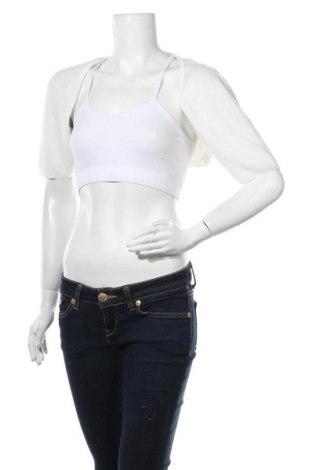 Болеро Unique, Размер XL, Цвят Бял, 41% ангора, 37% вълна, 21% полиамид, 1% еластан, Цена 23,52лв.