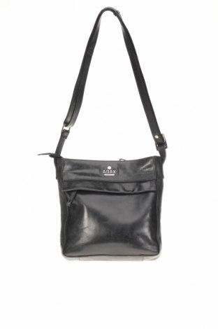 Τσάντα, Χρώμα Μαύρο, Γνήσιο δέρμα, Τιμή 35,07€
