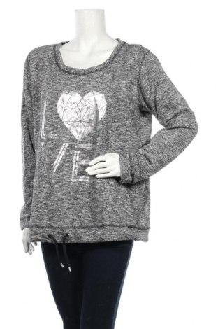 Дамска блуза Colours Of The World, Размер XL, Цвят Сив, 77% памук, 23% полиестер, Цена 14,18лв.