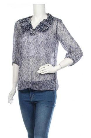 Дамска блуза Cortefiel, Размер XS, Цвят Син, 98% полиестер, 2% еластан, Цена 5,39лв.