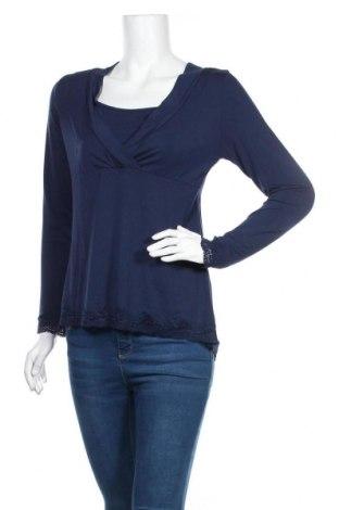 Дамска блуза Hunkemoller, Размер M, Цвят Син, 95% вискоза, 5% еластан, Цена 11,03лв.