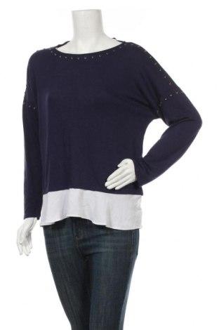 Дамска блуза INC International Concepts, Размер L, Цвят Син, 65% полиестер, 35% вискоза, Цена 7,29лв.