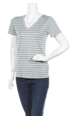 Γυναικεία μπλούζα Ichi, Μέγεθος S, Χρώμα Μπλέ, 67% βισκόζη, 30% μεταλλικά νήματα, 3% ελαστάνη, Τιμή 1,99€