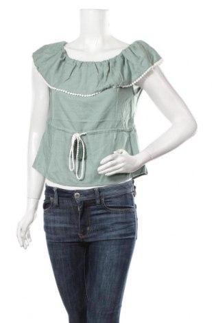 Γυναικεία μπλούζα La Morena, Μέγεθος S, Χρώμα Πράσινο, 70% βισκόζη, 30% λινό, Τιμή 6,73€