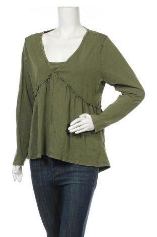 Дамска блуза Vrs Woman, Размер XL, Цвят Зелен, Памук, Цена 11,60лв.