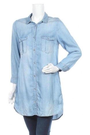 Дамска риза H&M, Размер M, Цвят Син, Лиосел, Цена 16,38лв.