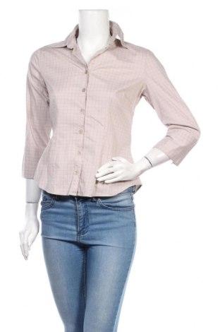 Cămașă de femei H&M, Mărime S, Culoare Bej, 70% bumbac, 28% poliamidă, 2% elastan, Preț 18,92 Lei