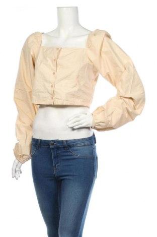 Дамска риза Na-Kd, Размер L, Цвят Бежов, Памук, Цена 9,80лв.