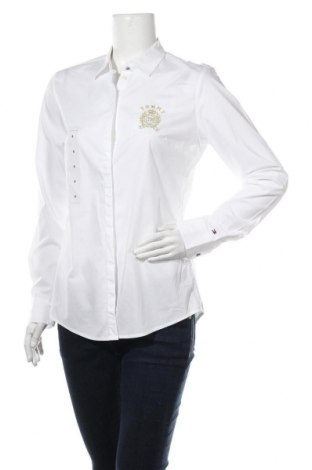Дамска риза Tommy Hilfiger, Размер M, Цвят Бял, 97% памук, 3% еластан, Цена 96,75лв.