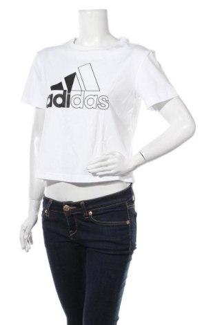 Дамска тениска Adidas, Размер S, Цвят Бял, Памук, Цена 51,75лв.