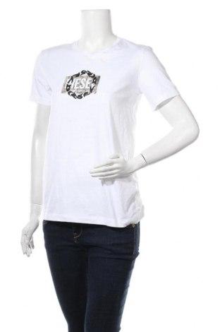Γυναικείο t-shirt Diesel, Μέγεθος M, Χρώμα Λευκό, Βαμβάκι, Τιμή 33,25€