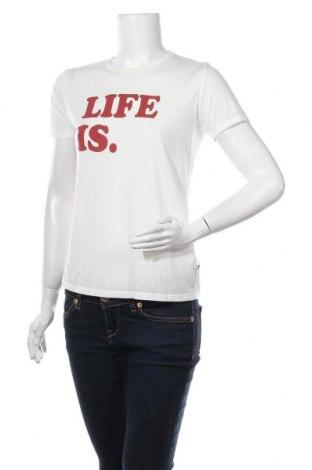 Dámské tričko Ltb, Velikost S, Barva Bílá, 57% polyester, 43% bavlna, Cena  136,00Kč