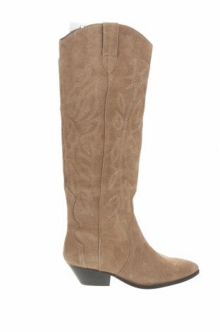 Dámské boty  Pull&Bear, Velikost 39, Barva Béžová, Přírodní velur , Cena  735,00Kč