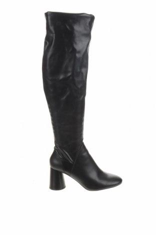 Cizme de damă Zara, Mărime 39, Culoare Negru, Piele ecologică, Preț 200,66 Lei