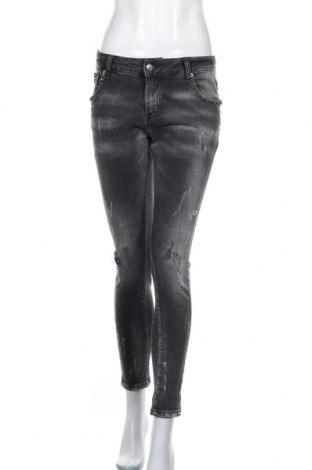 Дамски дънки, Размер M, Цвят Сив, 98% памук, 2% еластан, Цена 19,85лв.