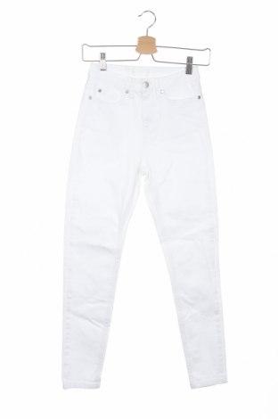 Дамски дънки, Размер XXS, Цвят Бял, Цена 14,22лв.