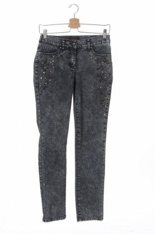 Дамски дънки, Размер XS, Цвят Син, 75% памук, 23% полиестер, 2% еластан, Цена 12,76лв.
