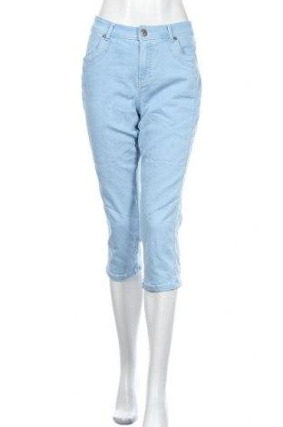 Дамски дънки Anna Montana, Размер L, Цвят Син, 71% памук, 25% полиестер, 4% еластан, Цена 9,04лв.