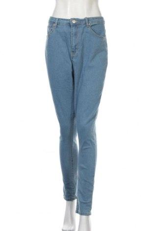 Дамски дънки Boohoo, Размер XL, Цвят Син, 65% памук, 33% полиестер, 2% еластан, Цена 14,33лв.