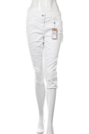 Дамски дънки Cecil, Размер XL, Цвят Бял, 98% памук, 2% еластан, Цена 22,91лв.