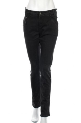 Дамски дънки Denim Hunter, Размер M, Цвят Черен, 98% памук, 2% еластан, Цена 29,17лв.