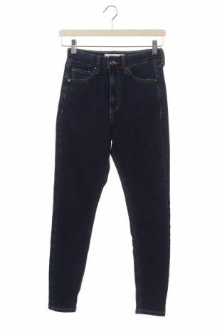Дамски дънки Even&Odd, Размер XS, Цвят Син, 74% памук, 23% полиестер, 3% еластан, Цена 16,31лв.